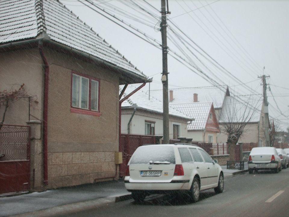 Prima zapada la Sibiu