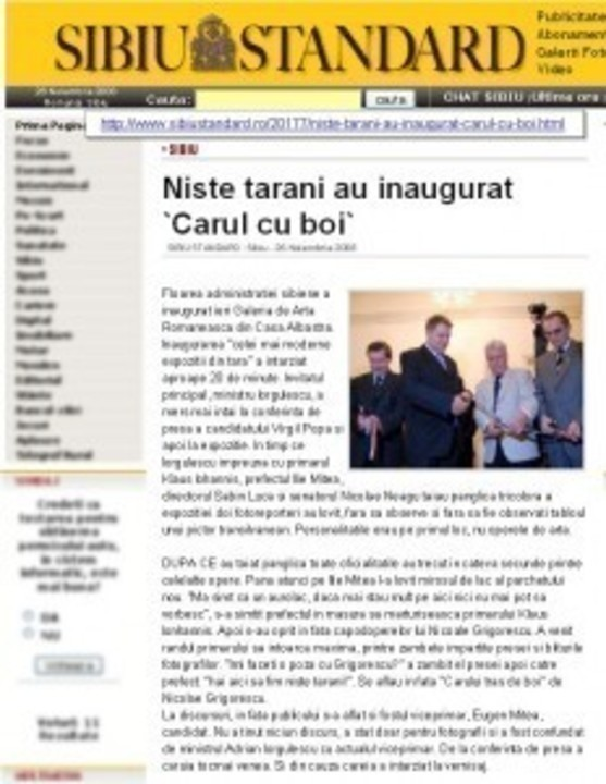 Politicienii? Niste tarani ...