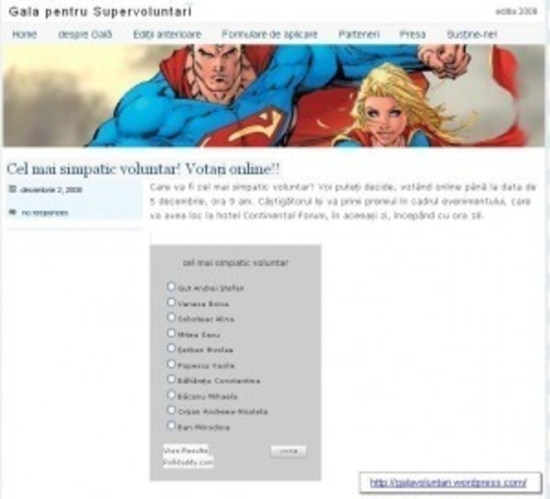 Voteaza cel mai simpatic voluntar