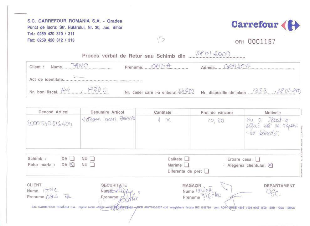 Retur Carrefour