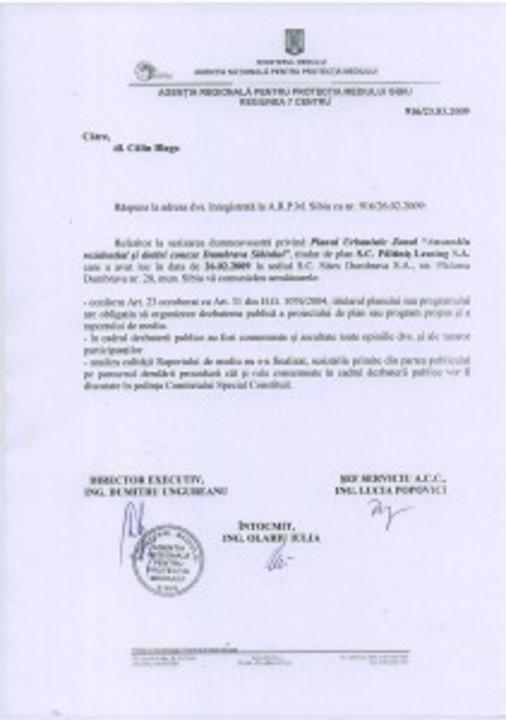 Primul raspuns oficial in cazul Sitex Dumbrava