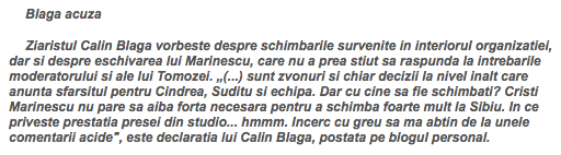 Monitorul de Sibiu îmi pune cuvinte în gură