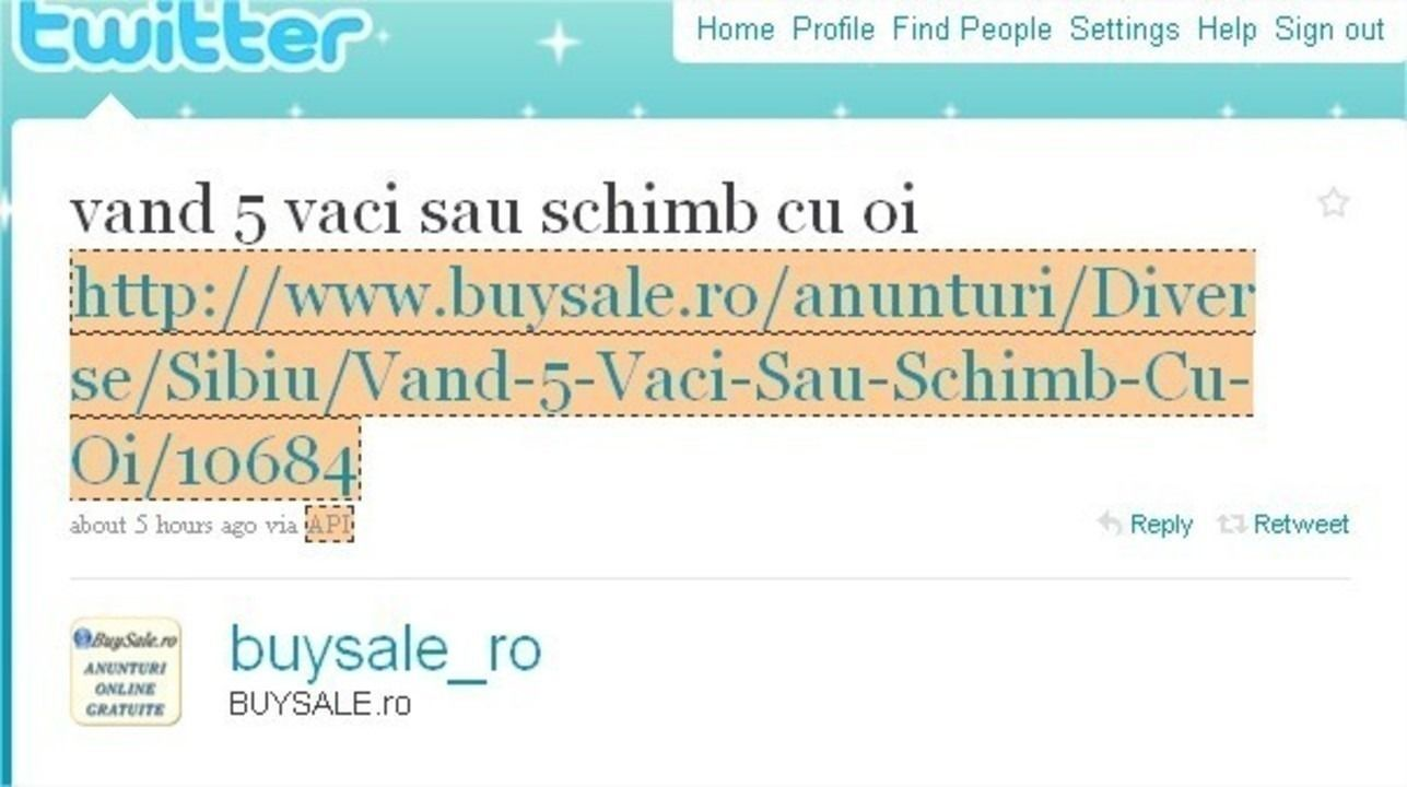 Twitter BUYSALE.ro vand 5 vaci sau schimb cu … – Google Chrome