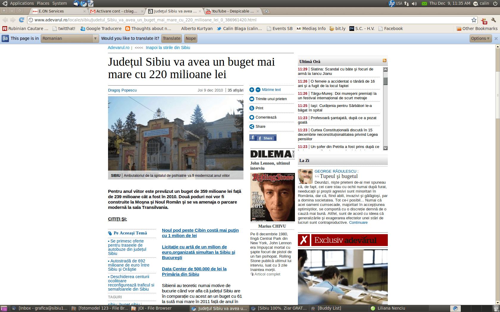 adevarul sibiu 9 dec 2010