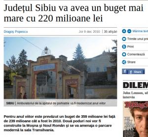Milioane, milioane de la mine pentru judetul Sibiu!!!