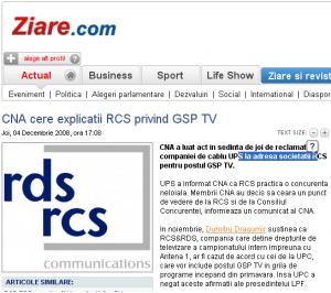 pentru ziare.com UPS = UPC