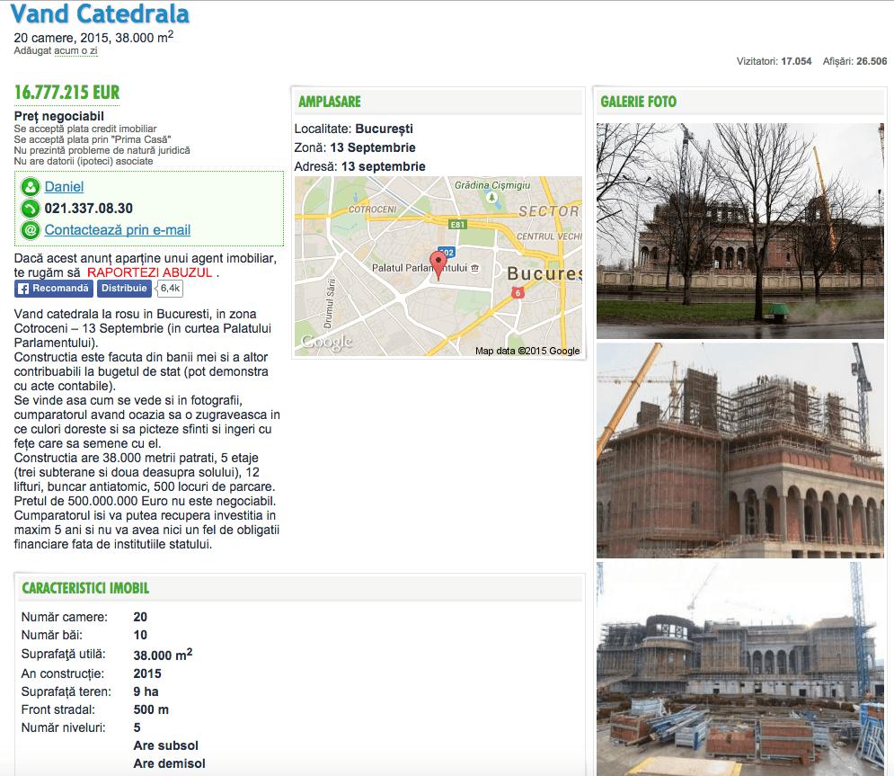 Neamul s-a decis sa-si vanda catedrala