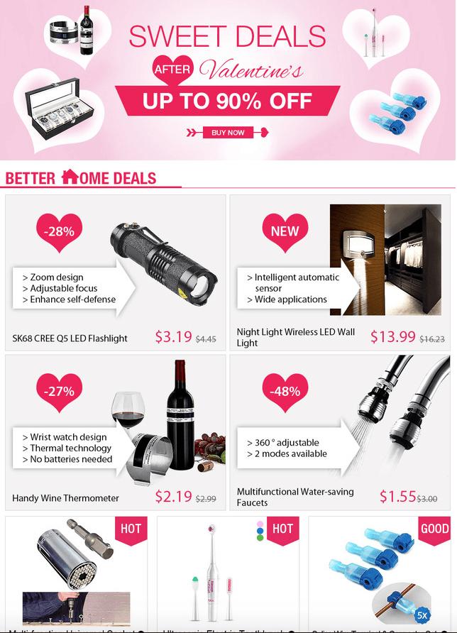 Reduceri de Valentine's Day