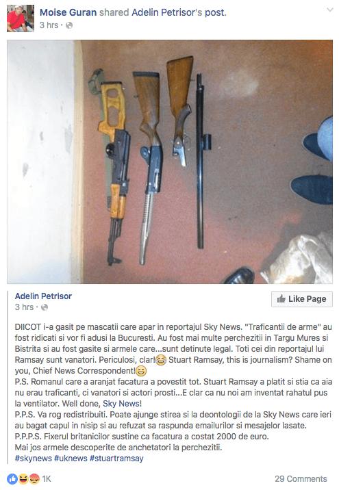 Traficantii de arme si nationalismul romanesc