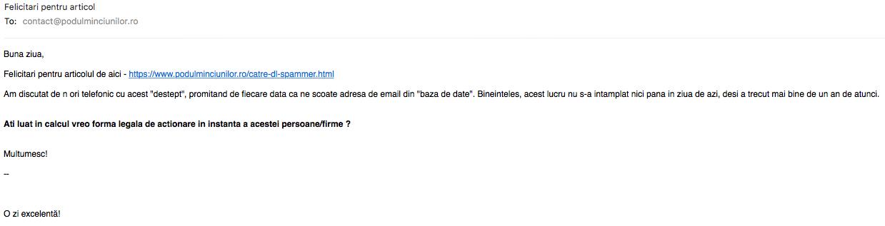 Cateva idei despre spam si spammeri