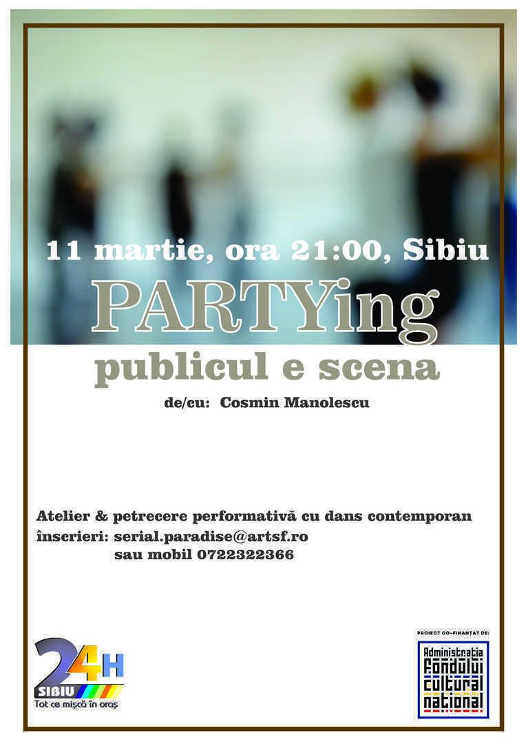 Invitatie la dans contemporan - PARTYing | Comunicat de presa