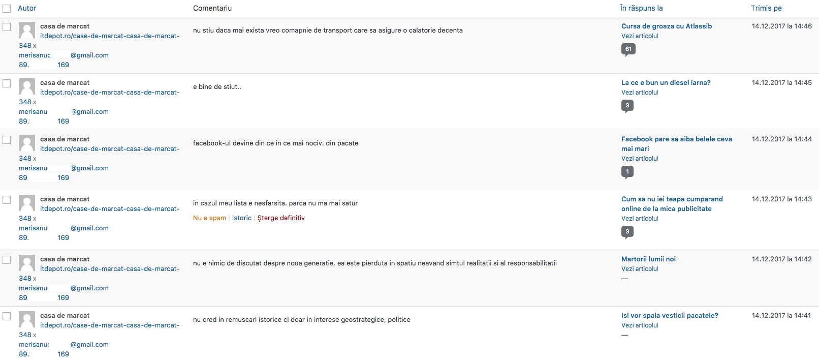 ITDepot.ro face spam la modul ordinar