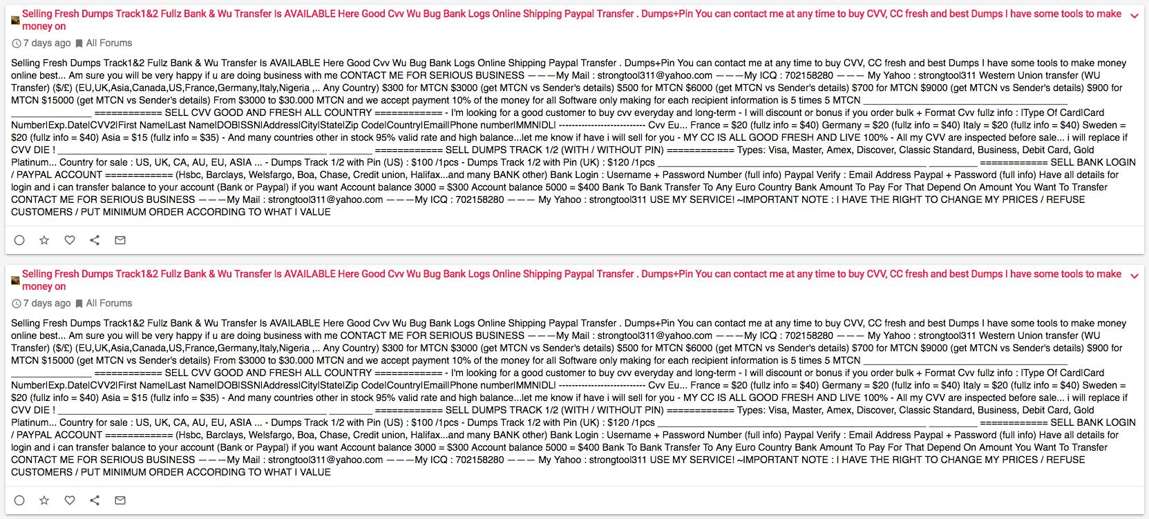 Forum de hackeri plin de spam