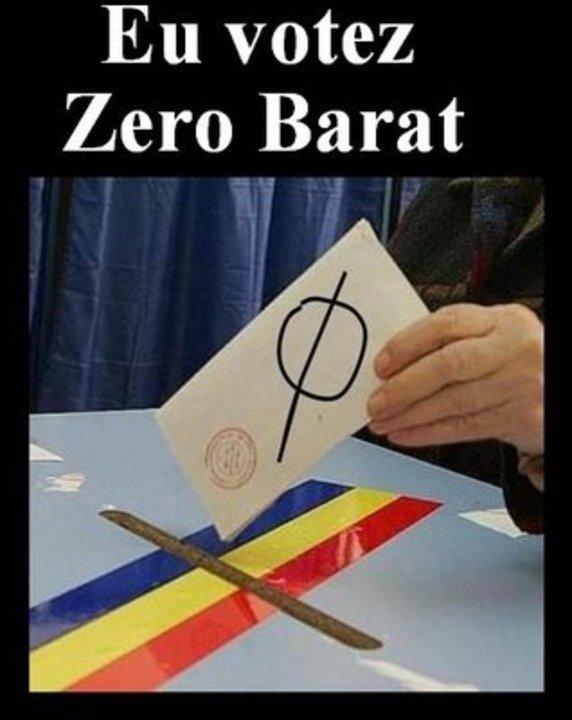 Eu votez Zero Barat