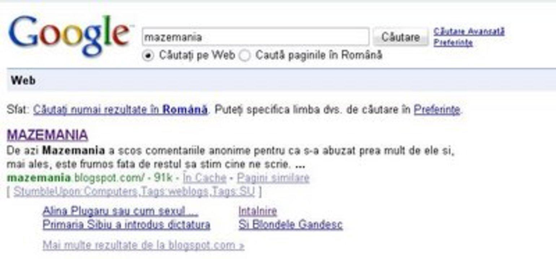 Link-uri Mazemania pe Google
