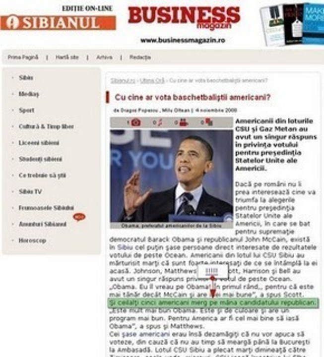 Popescu. Obama Popescu. Ziarist 007