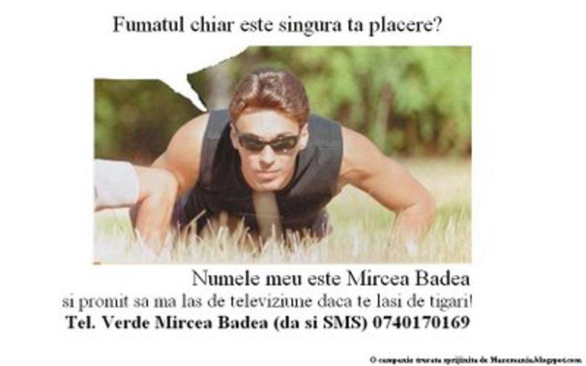 Mircea Badea fumat