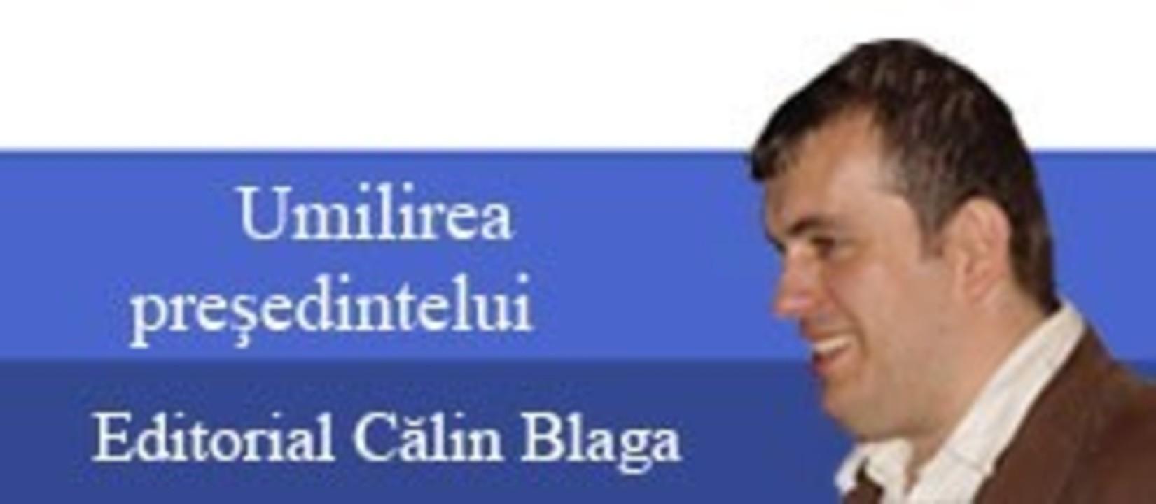 Editorial Sibiu7 - Umilirea presedintelui